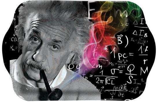 Albert Einstein Rolling Tray